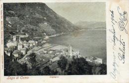 CARTOLINA D'EPOCA  DI ARGEGNO PANORAMA SUL PAESE COMERA INIZI 900VIAGGIATA 1904 - Como