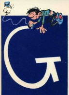 SUPERBE ET RARE  CARTE POSTALE 1962 / N° 2004 F  /  RECOUVERTE EN FEUTRINE ILLUSTREE PAR FRANQUIN  CPSM 10X15 NEUVE - Illustrateurs & Photographes