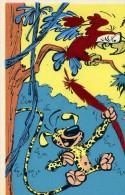 SUPERBE ET RARE ILL 154    CP 1962 / N° 2011 F  /  RECOUVERTE EN FEUTRINE ILLUSTREE PAR FRANQUIN  CPSM 10X15 NEUVE - Künstlerkarten