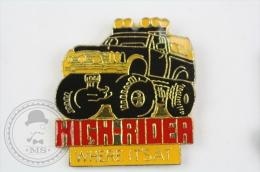 High Rider, Where It´Sat - Black Car - Pin Badge #PLS - Pin