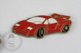 Lamborghini Countach Red Colour - Pin Badge #PLS - Pin