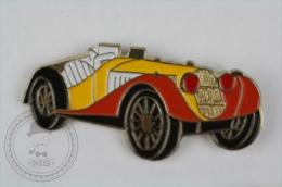 Orange & Yellow Colour Old Classic Car Convertible - Pin Badge #PLS - Pin