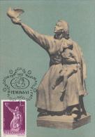 3860- SCULPTURE, ION JALEA- PEACE, CARTES MAXIMUM, 1982, ROMANIA - Beeldhouwkunst