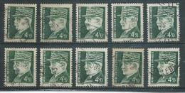 FRANCE     Yvert   N° 523  Oblitéré   10  EXEMPLAIRES - 1941-42 Pétain