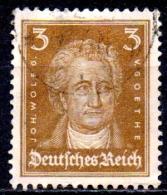GERMANY 1926 Portraits - 3pf Goethe  FU - Gebraucht
