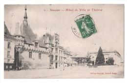 CP, 49, SAUMUR, Hôtel De Ville Et Théâtre, Voyagé En 1910 - Saumur