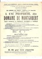 Affiche Domaine de Montgobert Mormant Solterre Cortat  Nogent sur Vernisson 1928 45 Loiret Bonneval Gabarres Bois Berger