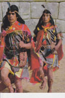 CPSM PERU PEROU INCAN MESSAGE CARRIERS CHASQUIS INCAICOS CUSCO INDIENS 1988