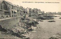 CPA BATZ SUR MER  COTE SAINT MICHEL LES CHALETS ET LES ROCHERS  F.CHAPEAU SCANS RECTO VERSO - Batz-sur-Mer (Bourg De B.)