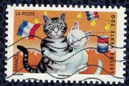 France 2014 Oblitéré Used Stamp Vacances Chats Au Bal Y&T 980 - France