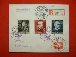 Gelaufener Danziger Einschreibe-Brief Von Deutsches Reich - Allemagne