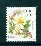 IRELAND  -  2004  Wild Flower Definitives  Mountain Avens  10c  Used As Scan - 1949-... Repubblica D'Irlanda