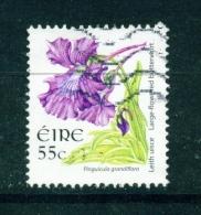 IRELAND  -  2004  Wild Flower Definitives  Large Flowered Butterwort  55c  Used As Scan - 1949-... Repubblica D'Irlanda