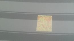 LOT 228256 TIMBRE DE COLONIE GENERALE OBLITERE N�52 VALEUR 20 EUROS
