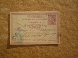 Carte Postale Entier Postal Pour Saint-pétersbourg Turquie Oblitération Jaffa - 1858-1921 Empire Ottoman
