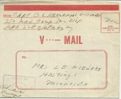 USA V-MAIL SEGUNDA GUERRA MUNDIAL REMITIDO A HASTING MINNESOTA ANGELES  EN FRANQUICIA - 2. Weltkrieg