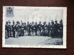 CARTOLINA MILITARE -FESTA DEL BRICCHETTO GRUPPO DI GENERALI(SOPRA LA TESTA IL NOME) GENOVA CAVALLERIA - VIAGGIATA 1914 - Patrióticos