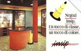 *ITALIA: NEGOZI INSIP* - Scheda Usata (variante NON CATALOGATA) - Italy
