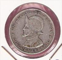 PANAMA 1/4 BALBOA 1953 SILVER - Panamá