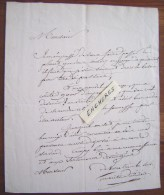 L.A.S GIRAULT DUVIVIER (1765-1832) Grammaire Homme De Lettre Académie Lettre Autographe LAS - Handtekening
