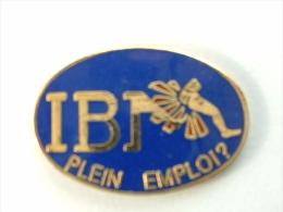 Pin´S IBM - PLEIN EMPLOI ? - FOND BLEU - Informatique