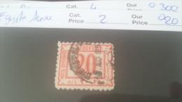 LOT 228418 TIMBRE DE EGYPTE OBLITERE N�2 VALEUR 20 EUROS