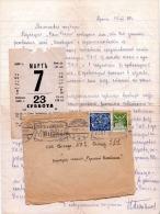 Brief CESKOSLOVENSKO 1924 -  Brief Mit Inhalt (Schreiben + Eintrittskarte?), 2 Fach Frankierung, Sonderstempel >>& - Briefe U. Dokumente