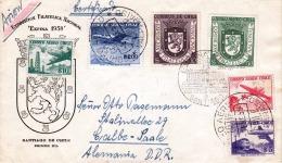 Brief CHILE 1958 - Schöne 6 Fach Frankierung (hoher Wert), Gel.n. Calbe-Saale - Chile