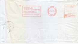 INDIA 1989 SINGLE ADVERTISEMENT METER FRANKING FROM BOMBAY - MFCD COME TO MULTIPLUS, TO MULTIPLY YOUR SAVINGS - India