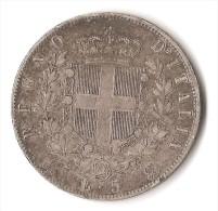 ITALIE 5 LIRE 1872 ARGENT - 1861-1878 : Victor Emmanuel II