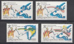 Vatican Mi.nr:1071-1074 Die Weltreisen Von Paps Johannes Paul II 1992 Neuf Sans Charniere-MNH-Postfris - Neufs