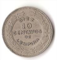 HONDURAS  10  CENTAVOS  1967 - Honduras