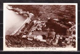 Jamestown From Top Of Jacob's Ladder, St Helena, MiF Koenig George Wappen, Nach Northeim 1950 (60785) - St. Helena