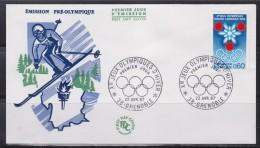 = Enveloppe 1er Jour Jeux Olympiques D'Hiver De Grenoble Prélude Aux J.O. Grenoble 22 Avril 1967 N°1520 - Winter 1968: Grenoble