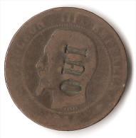 FRANCE 10  CENTIMES  NAPOLEON III  OUI - Francia