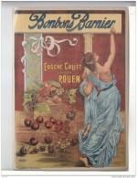 CARTE POSTALE  METAL EMAILLE  Avec Attache Pour Accrocher Au Mur -  BONBONS BARNIER -  Eugène CALLET  - ROUEN - N° 29122 - Plaques Publicitaires