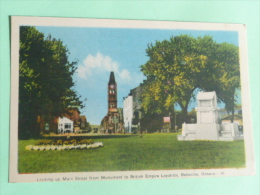 BELLEVILLE - Looking Up Main Street From Monument To British Empire Loyalists - Andere