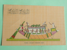 THEBES - Ancient Pharaonic Boat - Egypte