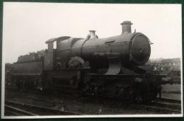 GWR Steam Train 4-4-0, City Of Bristol, City Class, No. 3712, Real Photograph Postcard - Trains