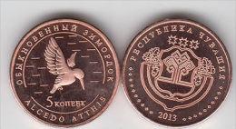 CHUVASHIA 5 Kopeek 2013 Birds Serie, Unusual Coinage - Monete