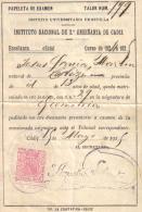 PAPELETAS  DE EXAMEN DEL AÑO  1925 - Documentos Históricos