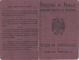 TITULO DE FAMILIA NUMEROSA - Documentos Históricos