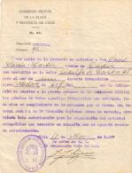 CERTIFICADO CENSURA DEL GOBIERNO MILITAR  EN 1937 - Documentos Históricos