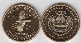 CHUVASHIA 5 Rubles 2013 Birds Serie, Usual Coinage - Monete