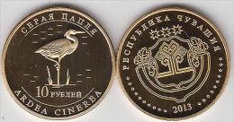 CHUVASHIA 10 Rubles 2013 Birds Serie, Unusual Coinage - Monete