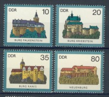 BL3-504 DDR, EAST GERMANY 1984 MI 2910-2913 ARCHITECTURE, BURGEN, KASTELEN, CASTELS, CHATEAUX. MNH, POSTFRIS, NEUF** - Kastelen