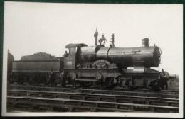 GWR Steam Train 4-4-0, Killarney, City Class, No. 3708, Real Photograph Postcard - Trains