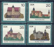 BL3-514 DDR, EAST GERMANY 1985 MI 2976-2979 ARCHITECTURE, BURGEN, KASTELEN, CHATEAUX, CASTELS. MNH, POSTFRIS, NEUF** - Kastelen