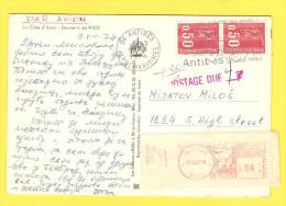 Postcard - France, Nice, Mix Franking, France-USA          (V 23128) - Other