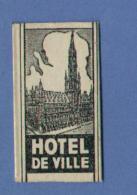 Une Lame De Rasoir  HOTEL DE VILLE (Brussel/Bruxelles) Made In Belgium (L14) - Scheermesjes